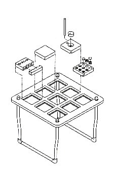 Aeroponics-drawing of chamber platform top